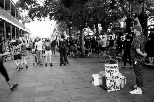 09 new orleans workers group BLM rally friday jackson square