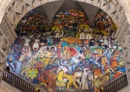 12 mexico city palacio nacional rivera mural