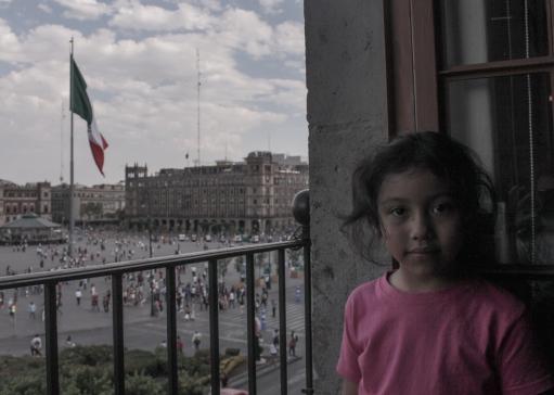 27 mexico city zocalo natalia portrait