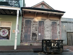28 new orleans ice cream blighted house tagged dumpster french quarter