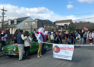 65 unicorn at red beans parade robertson & saint philip treme new orleans