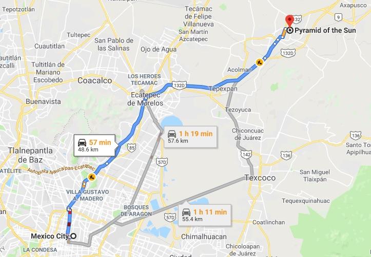cdmx to teotihuacan