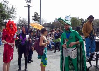 24 mardi gras jackson square people