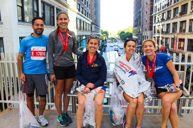 34 post race runners chicago marathon