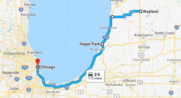 wayland to chicago