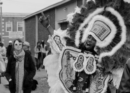 14 midcity super sunday mardi gras indians black & white