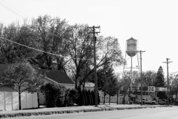 20 raymond minnesota water tower black & white