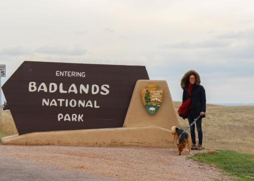 25 entering badlands sign