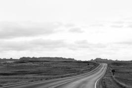 27 badlands south dakota b&w road