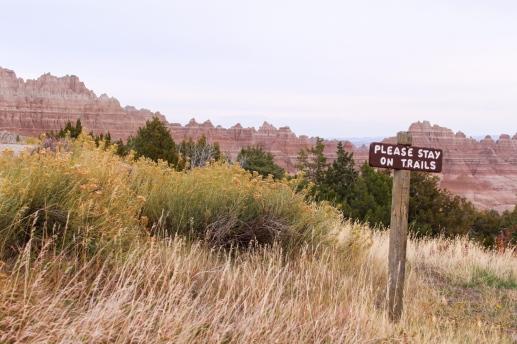 36 badlands south dakota please stay on trails