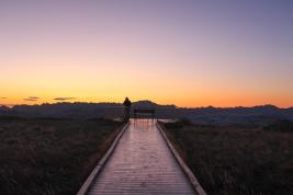 47 badlands south dakota sunset path