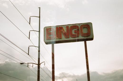 bingo sign double exposure new orleans 35mm