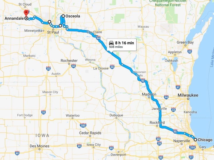 chicago to mn