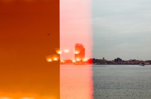 new york city double exposure 35mm