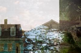 saint philip shotgun bayou oak double exposure louisiana 35mm