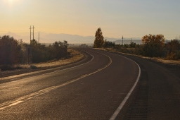 33 wyoming road sunset