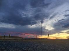 16b montana roadside sunset