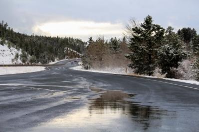 51 snowy montana roadside