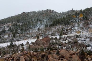 53 snowy montana roadside