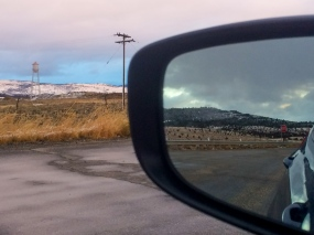 63 mountains in front and rear view montana