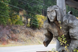 48 flathead lake indian statue