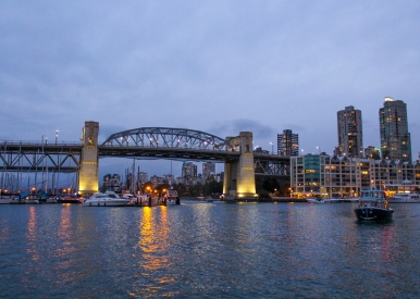 11 downtown vancouver burrard bridge water taxi