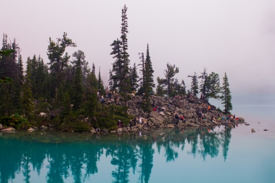 14 joffre lakes upper lake gathering spot