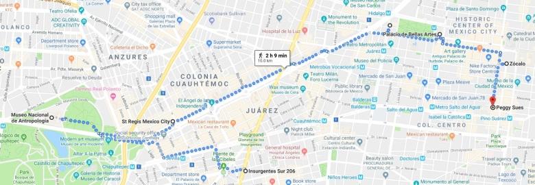mexico city day 1 walk