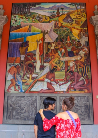 20 rivera palacio nacional mural detail