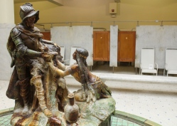 30 hot springs arkansas fordyce bathhouse native girl & conquistador statue