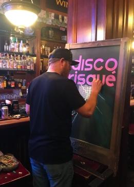 43 disco risque sign cregeen's jonesboro
