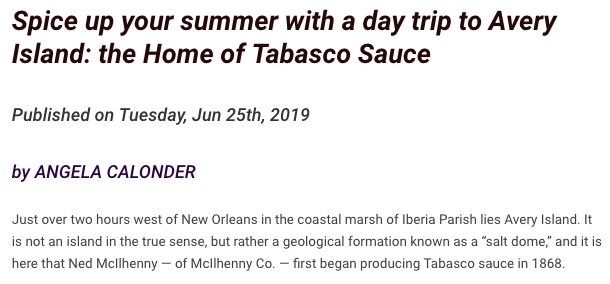 very local nola tabasco