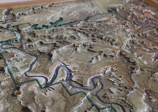 27 canyonlands utah topographical map