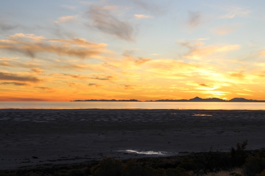 40 great salt lake sunset utah