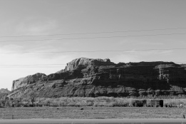 03 heading to arches national park b&w