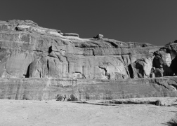 16 arches national park b&w