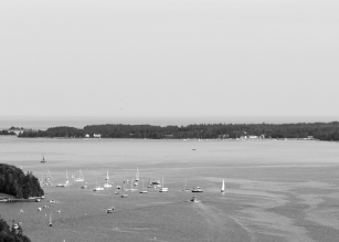 05 acadia national park flying mountain view b&w