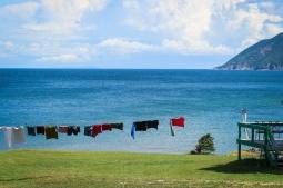 24 line drying cabot trail cape breton nova scotia