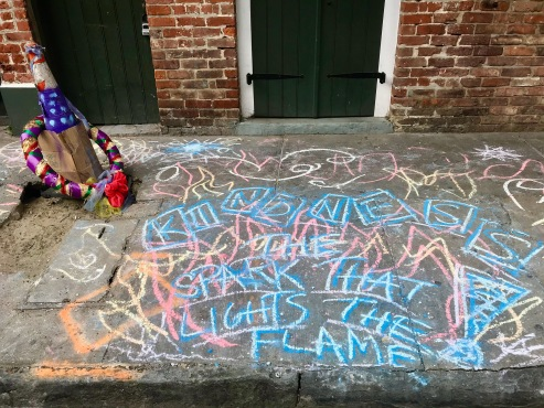 quarantine week 2 - 17 kindness sidewalk chalk