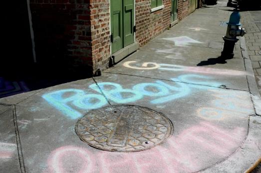 quarantine week 3 - 114 poboys sidewalk chalk
