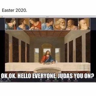 quarantine week 4 - 102 easter meeting meme