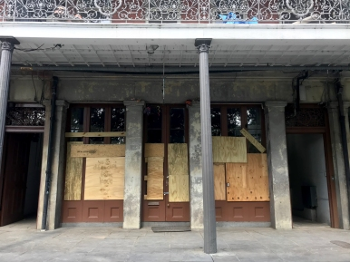 quarantine week 4 - 11 boarded up jackson square