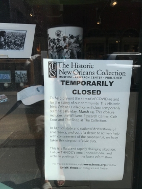 quarantine week 4 - 20 HNOC closed sign
