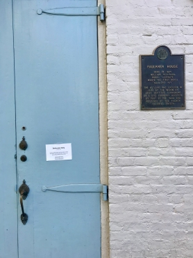 quarantine week 4 - 22 faulkner house closed