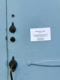 quarantine week 4 - 23 faulkner house note detail