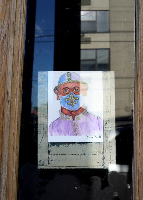 quarantine week 5 - 15 chuck siler mask drawing frenchmen street