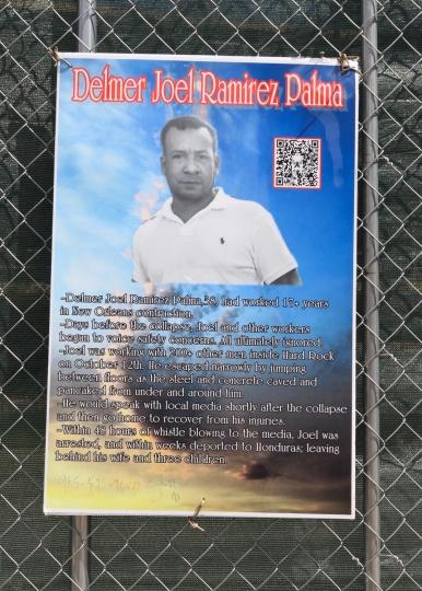 39 delmer joel ramirez palma hard rock memorial sign